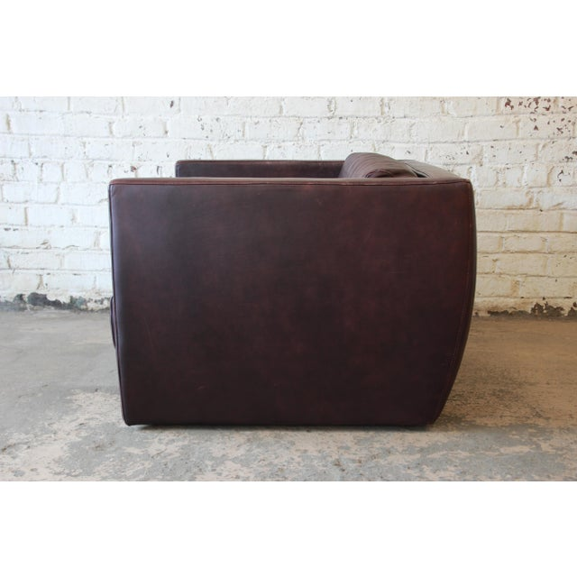 Red Roche Bobois Bauhaus Style Leather Loveseat or Cube Chair, 1970s For Sale - Image 8 of 12