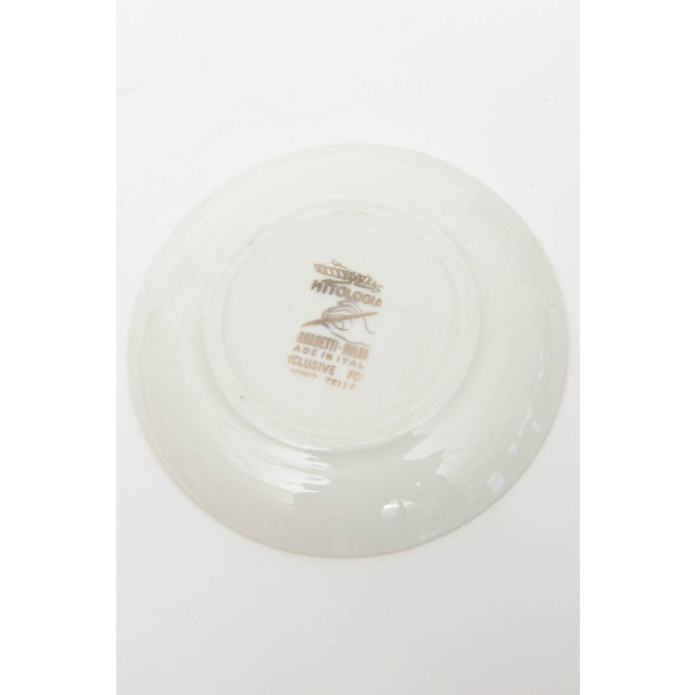 """Ceramic Complete Set of Eight Italian Fornasetti Gilded Porcelain """"Mitologia"""" Coasters For Sale - Image 7 of 10"""