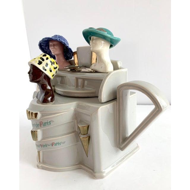 English Traditional Vintage Richard Parrington Novelty Teapot Mode De Paris For Sale - Image 3 of 13