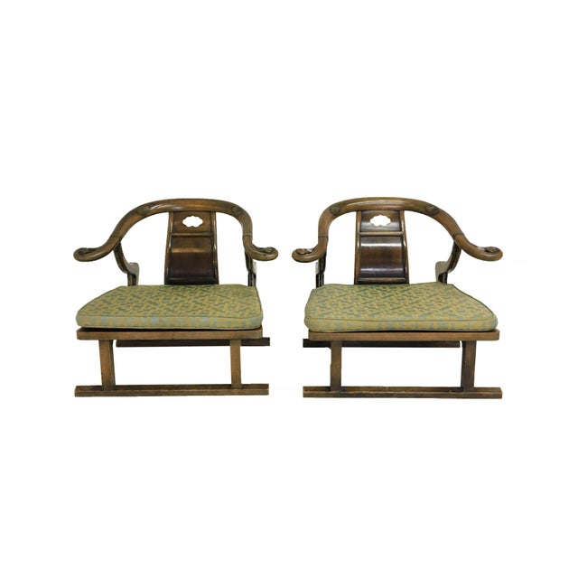 """Metal Mid Century Michael Taylor for Baker """"Far East"""" Lounge Chairs - A Pair For Sale - Image 7 of 9"""
