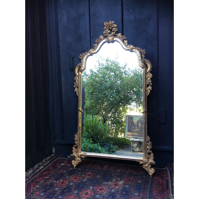 Antique Italian Gilt Carved Gold Mirror - Image 2 of 11