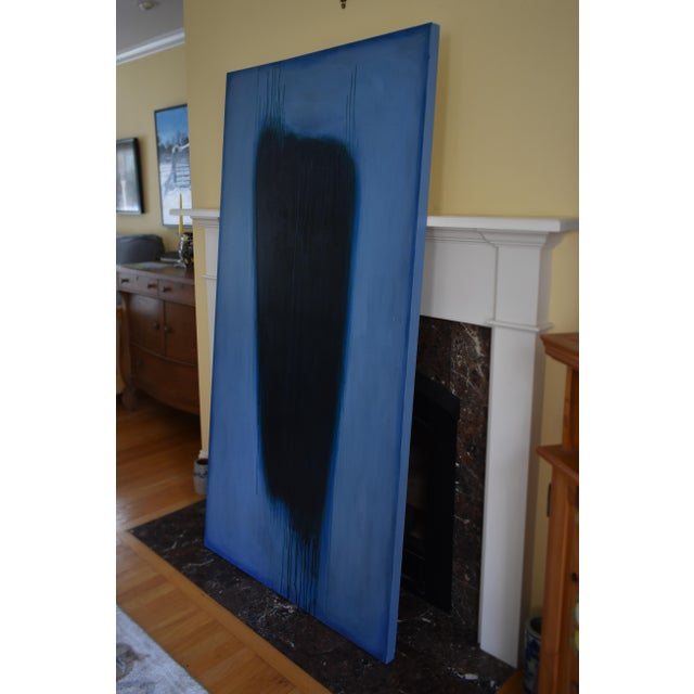 'Blue Torso' Abstract Painting - Image 3 of 11