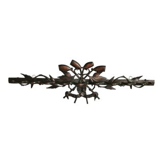 Antique French Black Forest Pipe Rack For Sale
