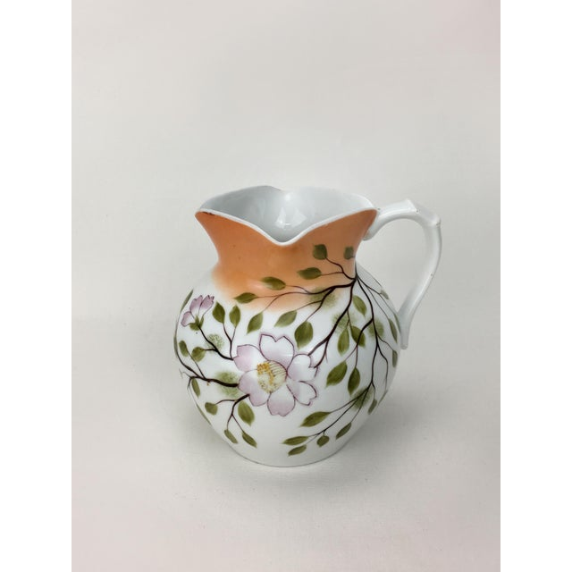 20th Century Traditional Autumn Magnolias Porcelain Pitcher For Sale - Image 4 of 6