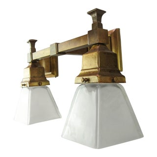 Arts & Crafts Mission Wall Sconce (Double)