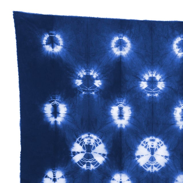 This oversize flag is made from hand-dyed silk, featuring a mix of shibori and block print techniques. All-natural dyes...
