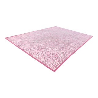 Dash & Albert Pink Leopard Print Wool Rug - 10′ × 14′ For Sale
