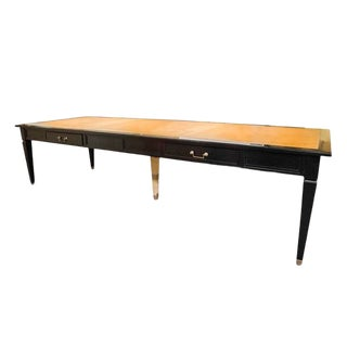 Louis XVI Style Long Ebonized Table by Jansen For Sale