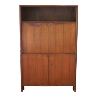 Vintage Danish Modern Deutsche Wk Mobel Hidden Drop Front Locking Desk