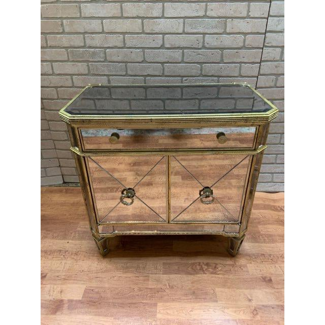 Hollywood Regency Style Butler Specialty Company Mirrored Console Cabinet For Sale - Image 13 of 13