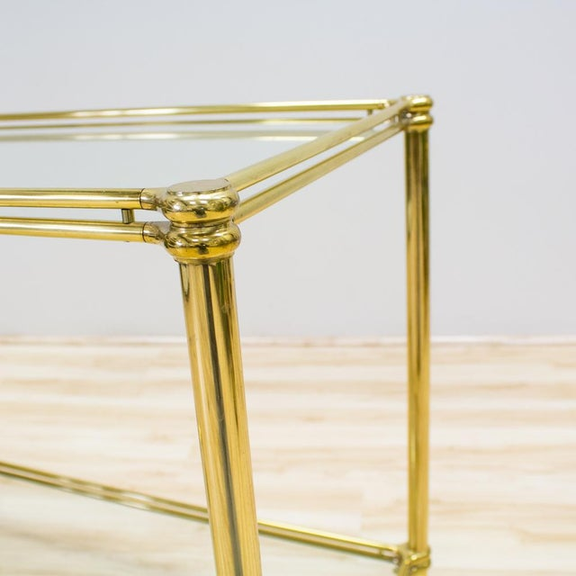 Italian Brass & Glass Bar Cart - Image 7 of 10