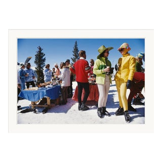 """Slim Aarons, """"Snowmass Gathering,"""" April 1, 1968 Getty Images Gallery Framed Art Print For Sale"""