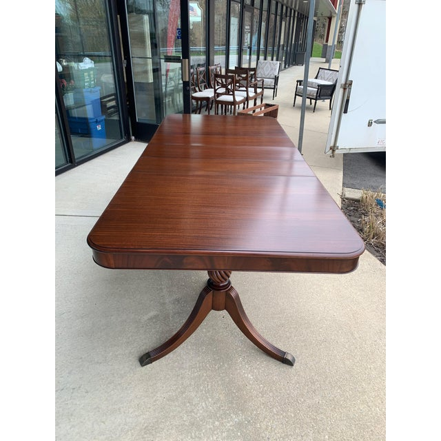 Burnt Umber Vintage Berkey and Gay Dining Table and 7 Chairs - 8 Pieces For Sale - Image 8 of 13