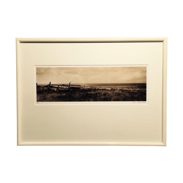 """Kevin Lynch """"Mendocino Headlands"""" Sepia Photograph - Image 1 of 4"""