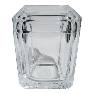 Vintage Mid-Century Modern Alessandro Albrizzi Lucite Square Faceted Ice Bucket For Sale