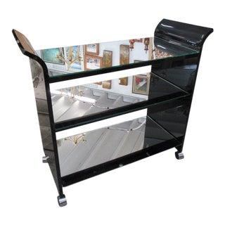 Mid-Century Mirror & Lucite Bar Cart