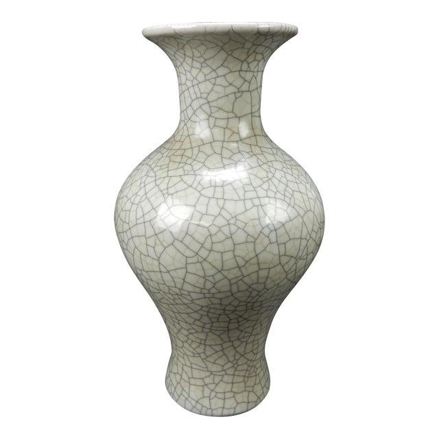 Antique Chinese Crackle Glazed Ge Yao Celadon Vase Chairish