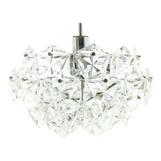 Four Tiers Crystal Glass Chandelier by Kinkeldey, 1960s For Sale