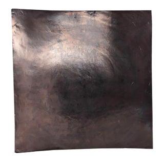 Oversized Glazed Opalescent Ceramic Platter For Sale