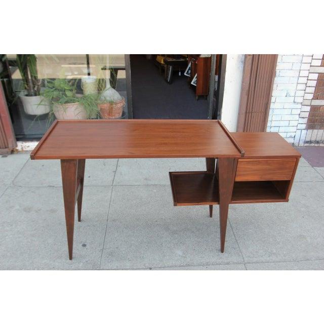 Modern Walnut Writing Desk - Image 2 of 8