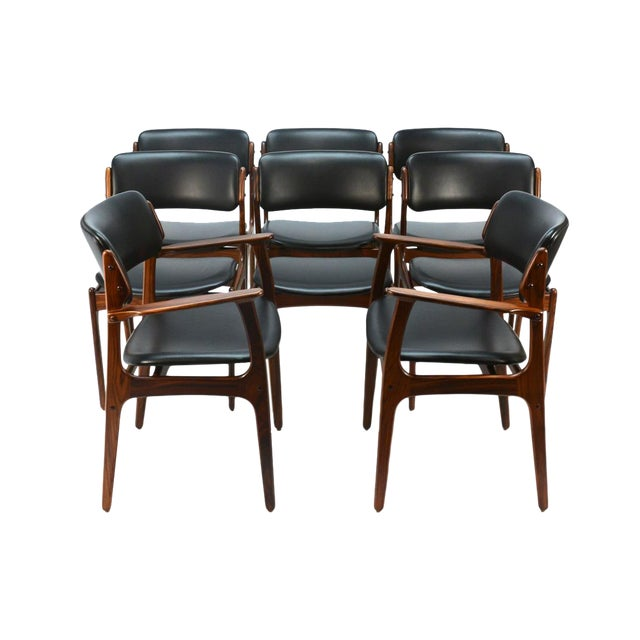 Erik Buck Model 49 Rosewood Dining Chairs - Set of 8 - Image 1 of 10