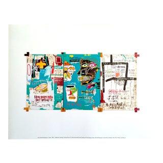 "Jean Michel Basquiat Estate Fine Art Offset Lithograph Pop Art Print "" Ishtar "" 1983 For Sale"