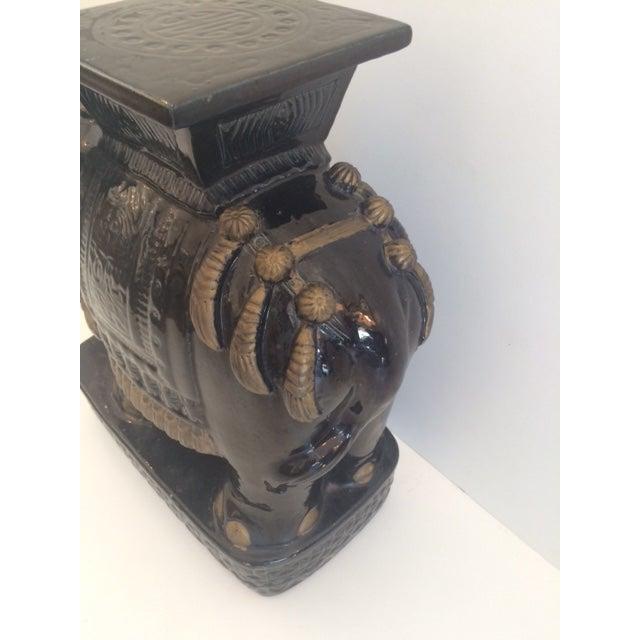 Vintage Black Ceramic Garden Stool For Sale In West Palm - Image 6 of 8