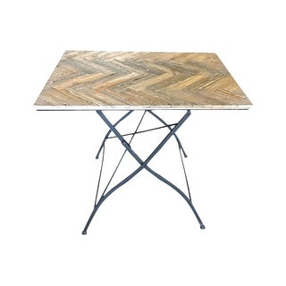 20th Century Contemporary Herringbone Folding Table For Sale