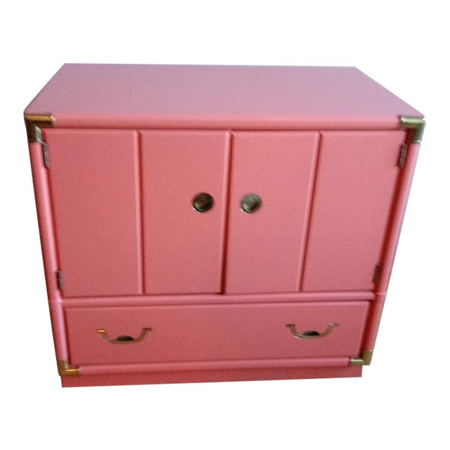 Drexel Accolade Campaign Coral Nightstand For Sale