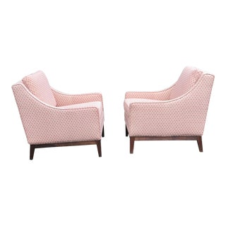 Mid-Century Pink Club Chairs - a Pair