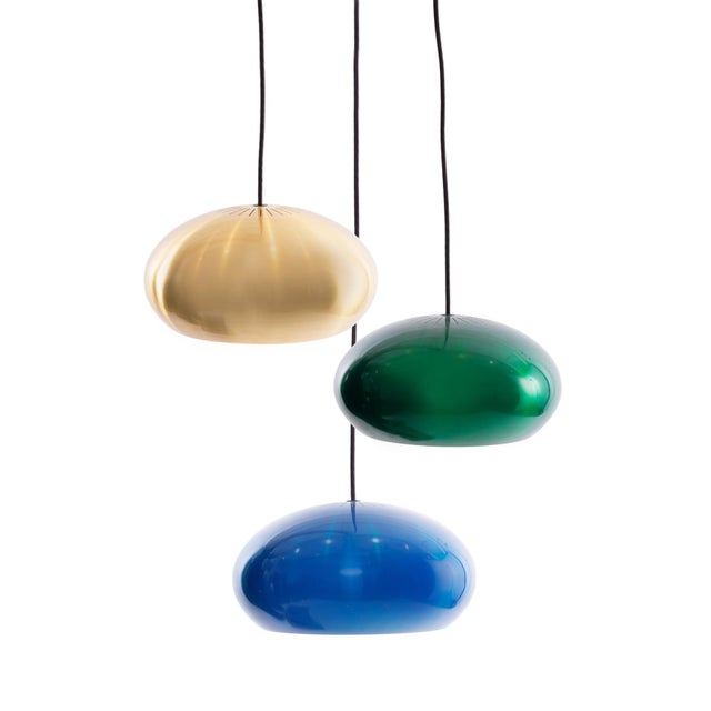 Blue Jo Hammerborg for Fog & Mørup Pendant Lights - Set of 3 For Sale - Image 8 of 8