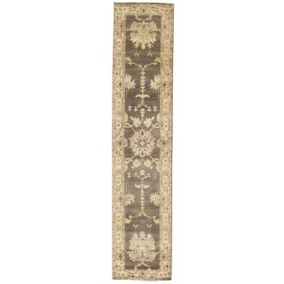 """Traditional Pasargad N Y Original Oushak Design Hand-Knotted Rug - 2'7"""" X 11'9"""""""