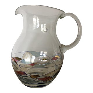 Romanian Cristiro Mosaic Art Pitcher