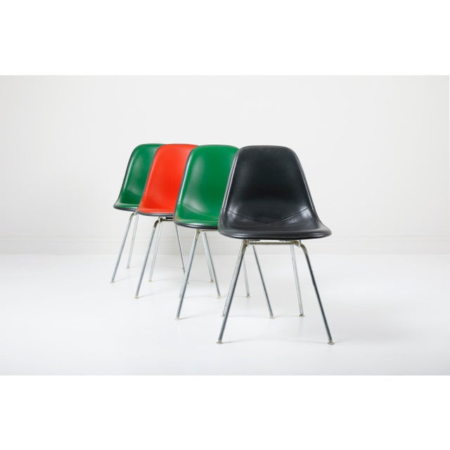 "Charles & Ray Eames | Herman Miller USA, 1960's (production dates unknown) Fiberglass, Naugahyde, Aluminum 32"" tall x..."