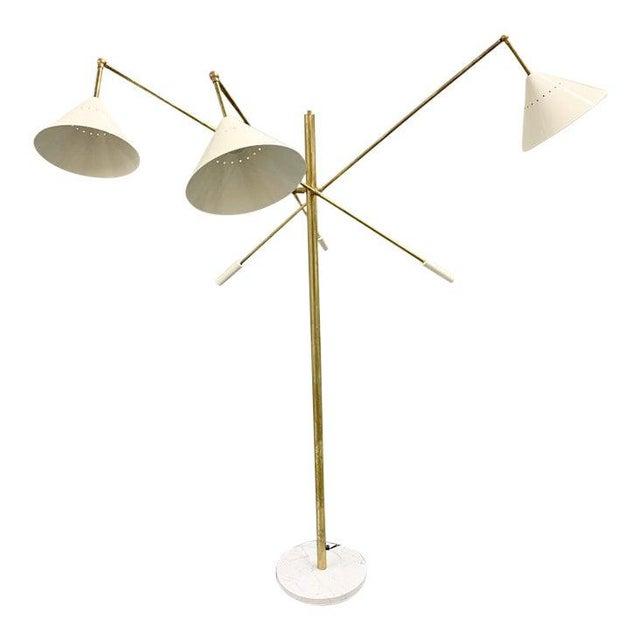 Arredoluce Italian Brass Mid Century Style Floor Lamp For Sale - Image 4 of 12