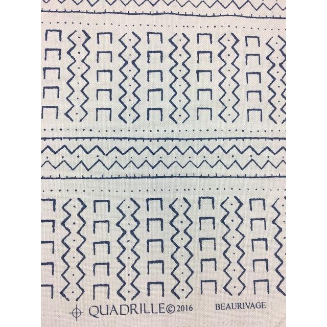 Quadrille Blue & White Fabric- 2 1/3 Yards - Image 2 of 4
