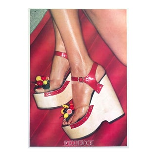 """Fiorucci Rare Original Vintage 1978 """" High Heels """" New Wave Italian Fashion Collector's Lithograph Print Pop Art Poster For Sale"""