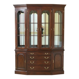 Henkel Harris Model 2363 Mahogany China Cabinet Breakfront For Sale
