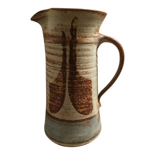 1970s Mid Century Modern Studio Pottery Pitcher For Sale