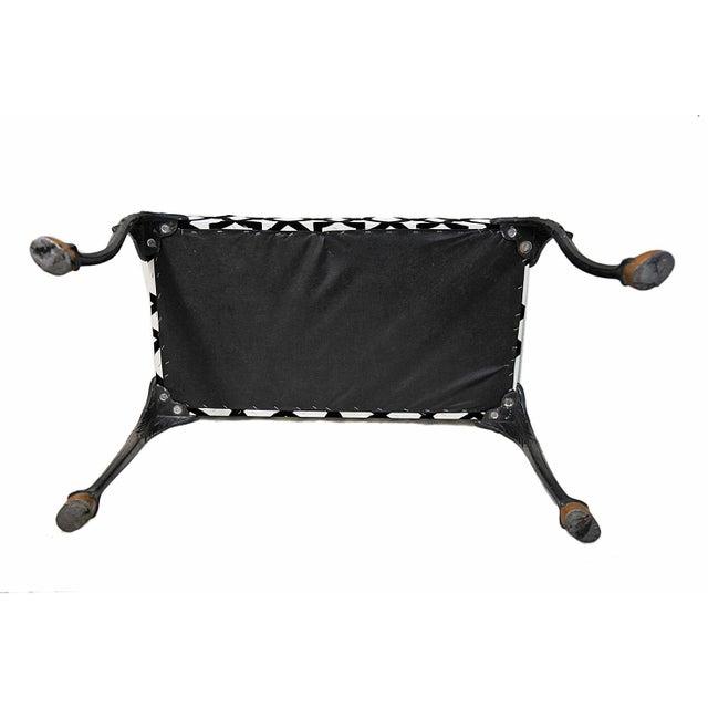 Vintage Black & White Bench - Image 2 of 3