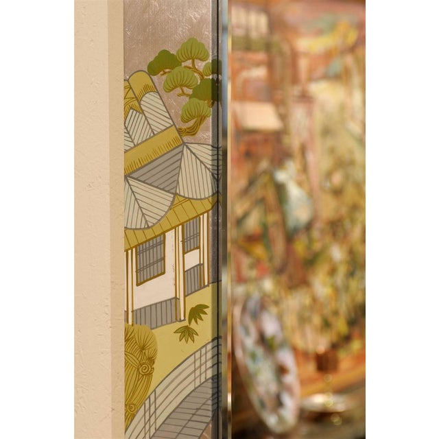 Regency Painted Silver Chinoiserie Mirror - Image 4 of 8