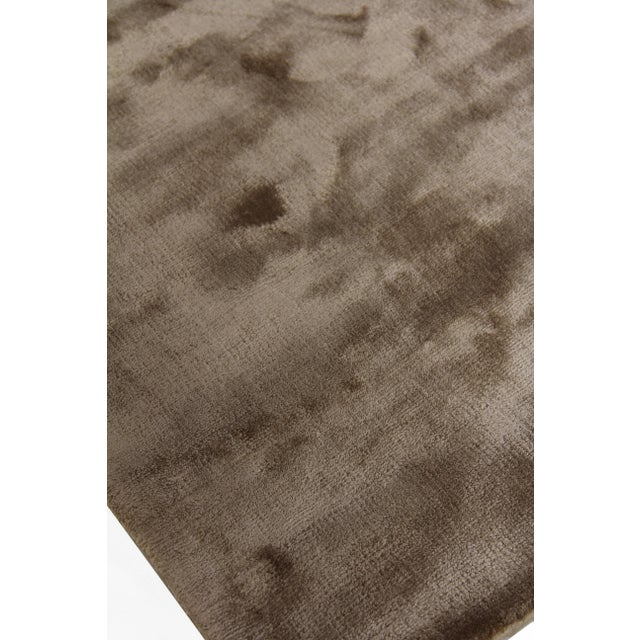 Exquisite Rugs Durham Hand loom Viscose Khaki Rug-8'x10' For Sale - Image 4 of 7