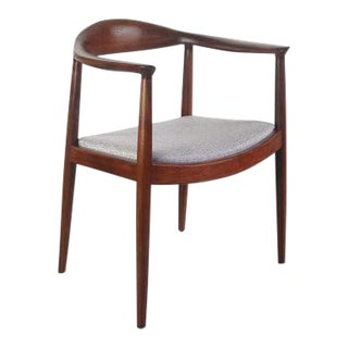 Hans Wegner the Round Chair in Mohogany For Sale