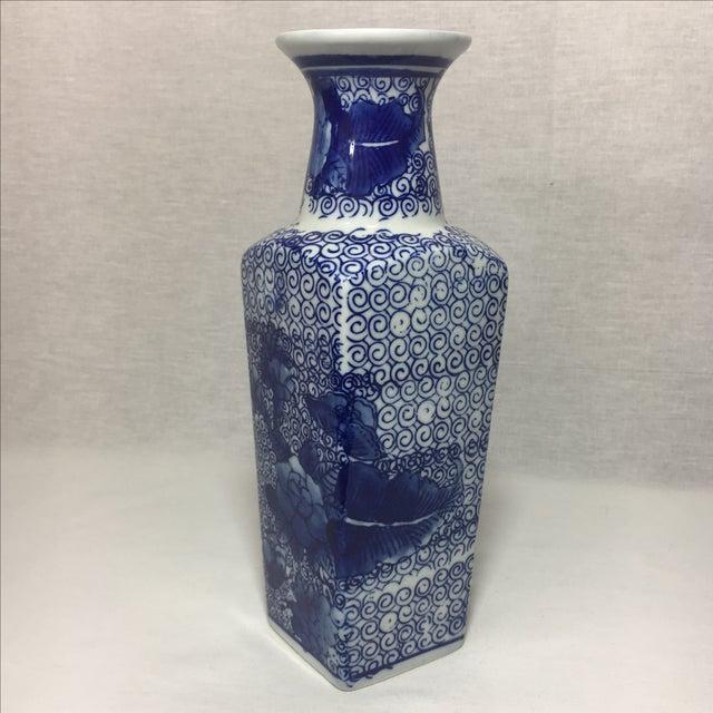 Blue & White Chinoiserie Vase - Image 3 of 6