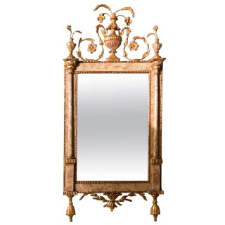 Antique 18th Century Neoclassical Marble Mirror For Sale