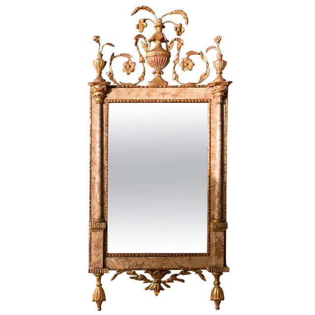 Antique 18th Century Neoclassical Marble Mirror - Image 1 of 6