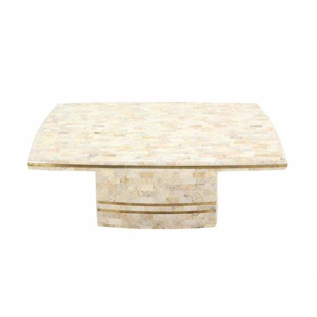 Brass Inlay Tessellated Maitland Smith Coffee Table For Sale In New York - Image 6 of 6