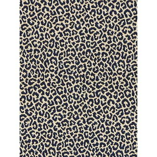 Scalamandre Panthera Velvet, Indigo Fabric For Sale