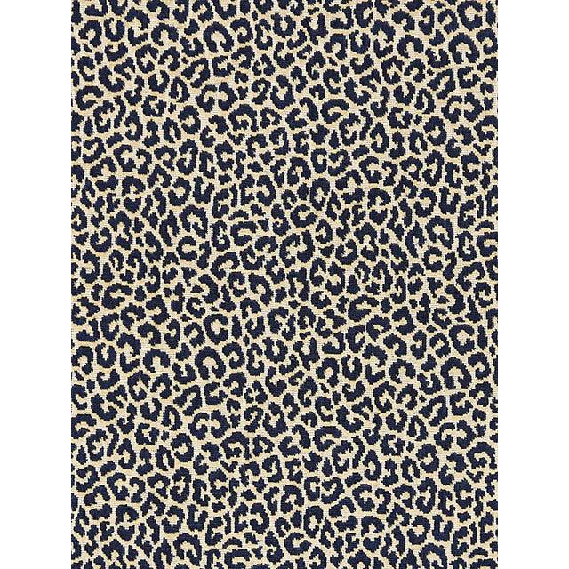 Scalamandre Panthera Velvet, Indigo Fabric For Sale