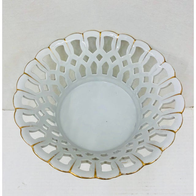 Abstract Vintage Porcelain Dish For Sale - Image 3 of 6